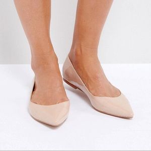ASOS Shoes - ASOS LATCH Wide Fit Pointed Ballet Flats UK 8